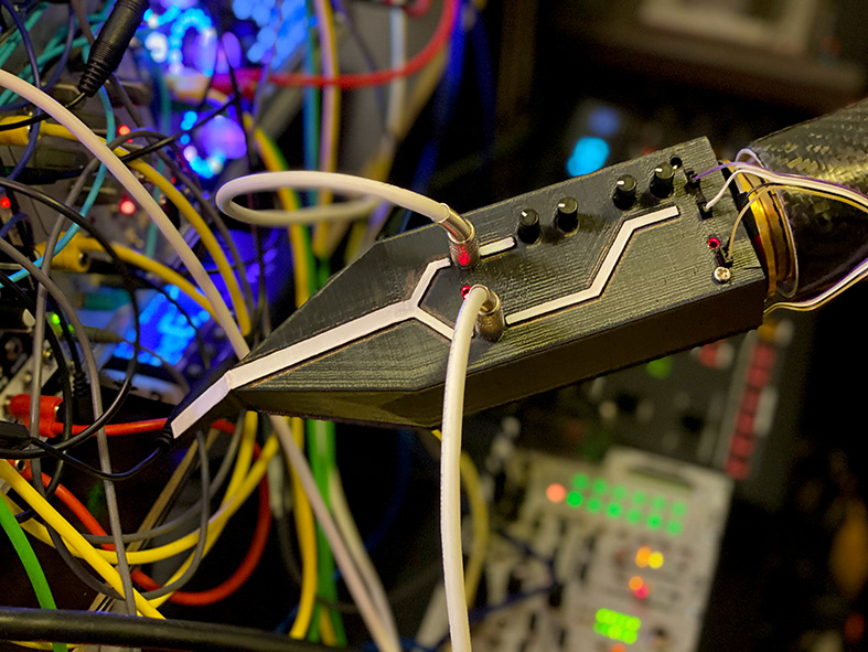 Current SynLimb attached to Modular Synthesizer